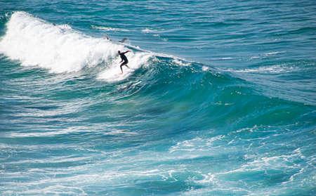people surfing on beach, view from NSW, Australia, Sydney 2018 Stok Fotoğraf