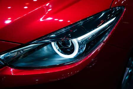 Headlight Of A Modern Luxury Car Auto Detail Car Care Concept
