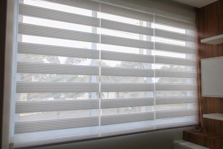 Blinds Doppelbild, Dual Nerz, Zebra. Bilder zur Verbreitung von dekorativen Produkten