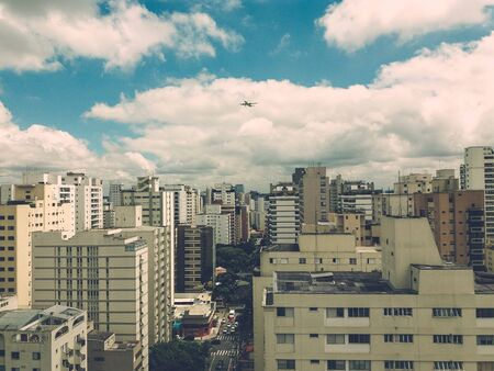 view of Sao Paulo city, with its tall buildings, giving chaos to beauty