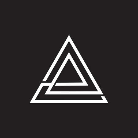 abstract letter e overlapping line triangle logo Иллюстрация