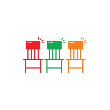 chair simple geometric symbol vector