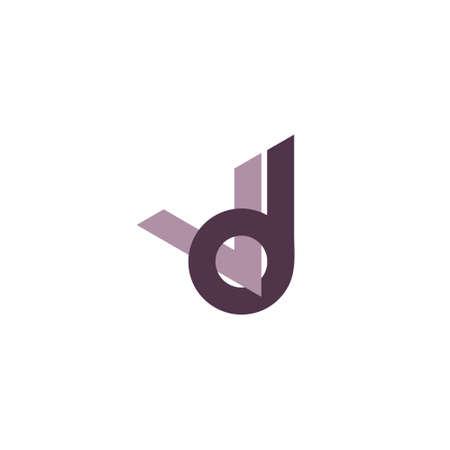 letters vd simple linked logo vector Logó