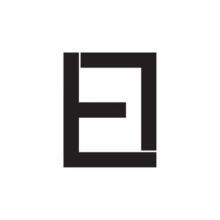 abstract letters tl simple square geometric logo