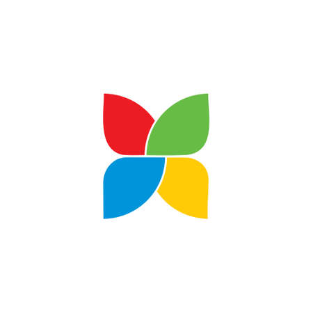 abstract colorful butterfly wing logo