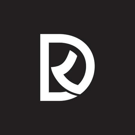 letter dk simple geometric logo vector Logó