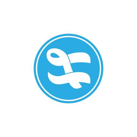abstract letter t blue wavy design logo vector Logó