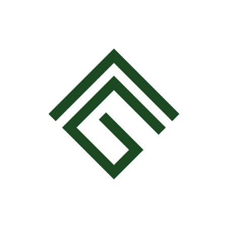 abstract letters ag geometric arrow logo vector Illusztráció