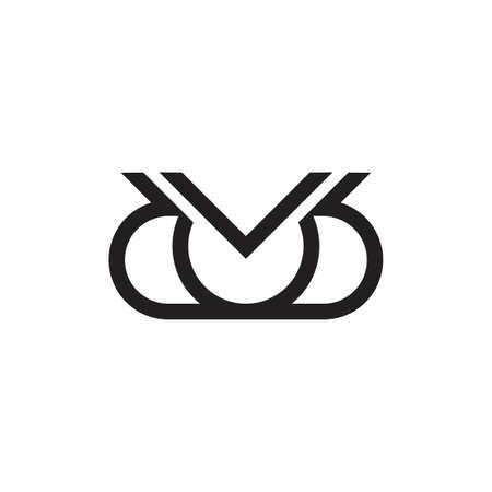 letters dd simple geometric line logo Logó