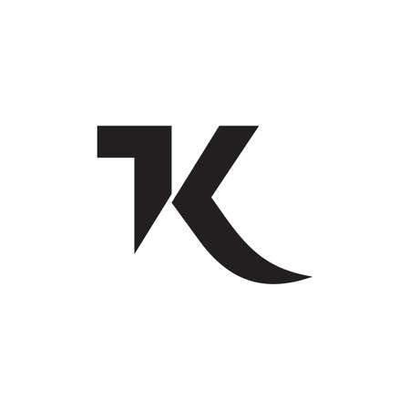 letters 1k simple geometric vector