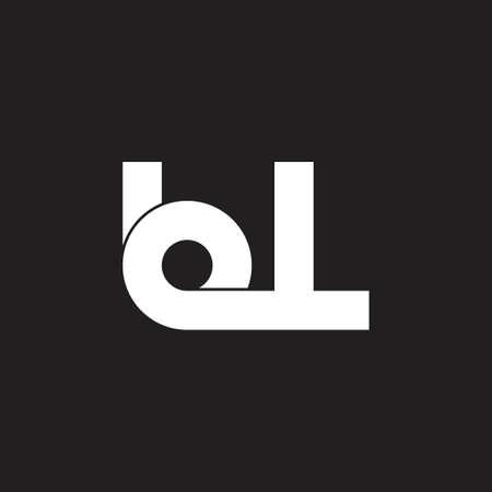 letters bl simple loop logo vector Imagens - 119517705