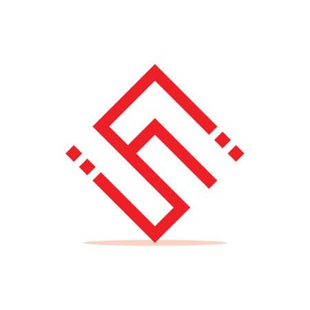 abstract letters cs dots geometric line logo vector Logó