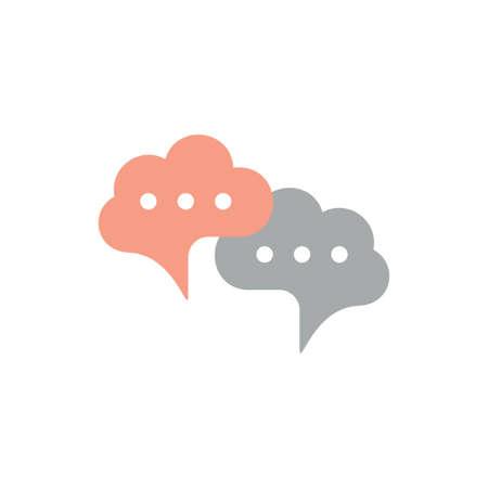 linked brain talk symbol logo vector