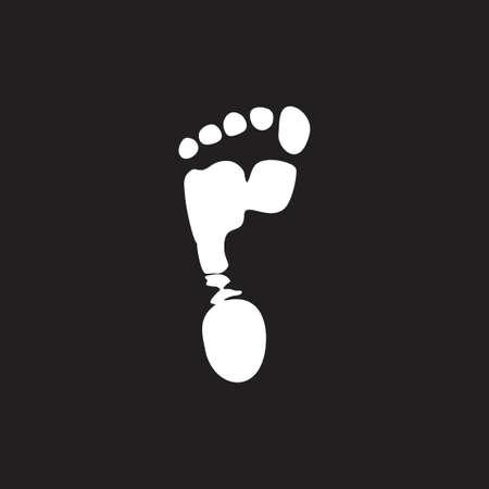 foot print realistic design symbol decoration vector
