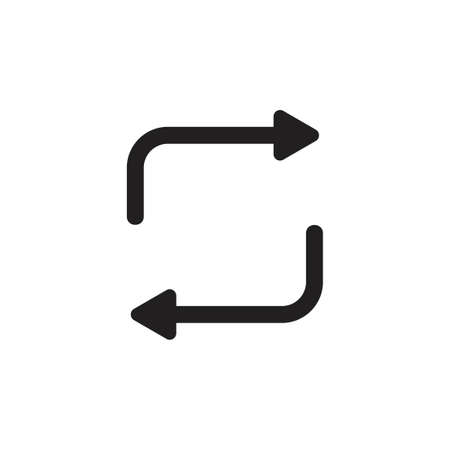 rotation arrows exchange symbol vector