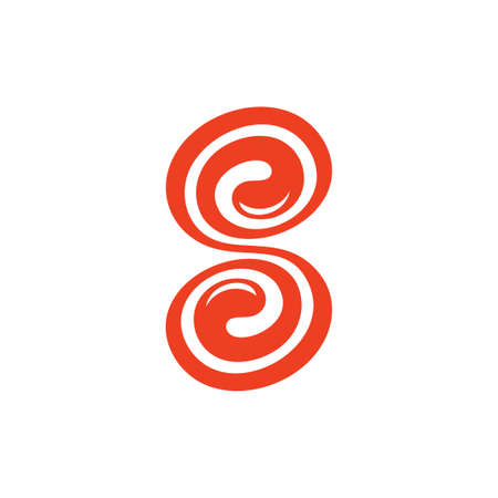 letter s spiral shape cute sweet logo vector