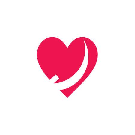 love simple movement arrow fast logo vector