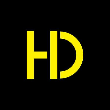 letters hd simple geometric logo vector