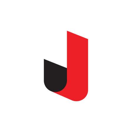 letter j simple 3d logo vector Logó