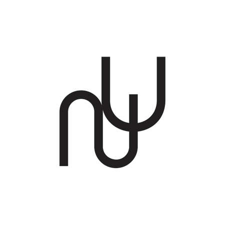 letters ny simple line geometric logo vector