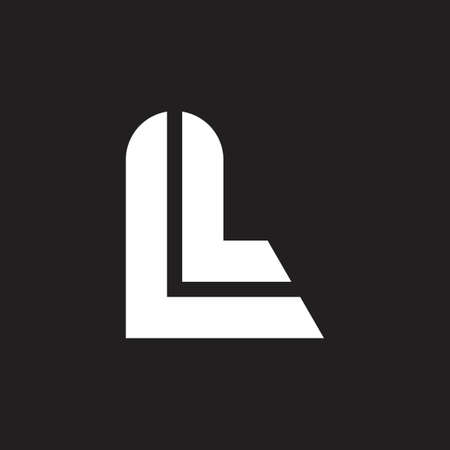 letter l simple stripes geometric line logo