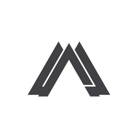 letter am triangle geometric logo vector