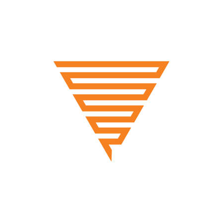 stripes triangle geometric line logo vector Illustration