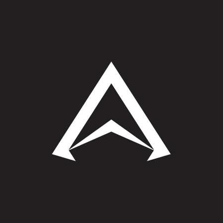 letter a simple arrow geometric logo vector Logo