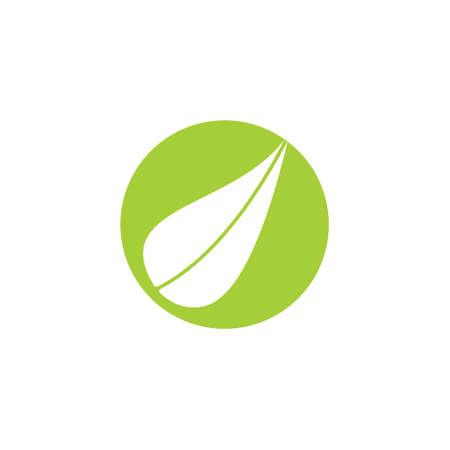 simple leaf shape negative space logo vector
