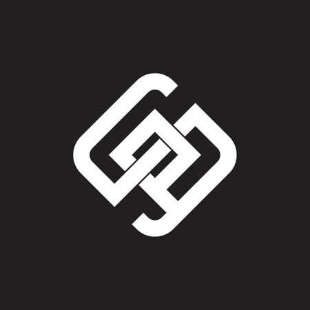 letters sp linked geometric line logo vector Logó