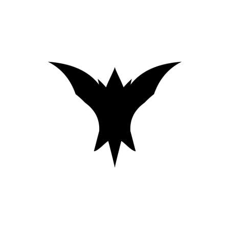 abstract bat silhouette scary logo vector