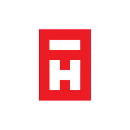 abstract letter h i simple geometric logo vector Illustration