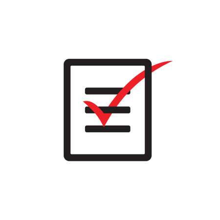 vector of paper check write icon