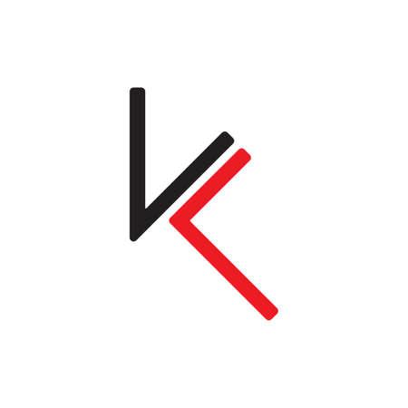 vector of letter kl simple geometric logo