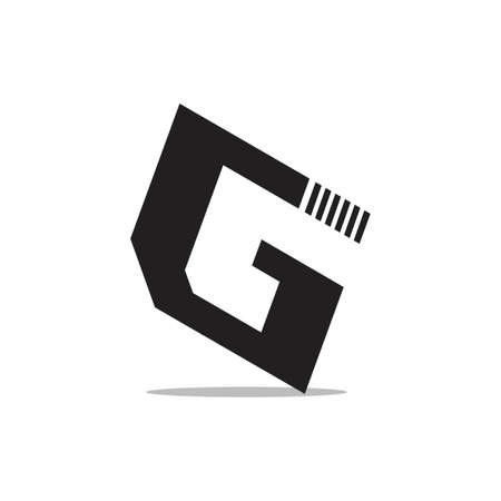 abstract letter g simple geometric logo