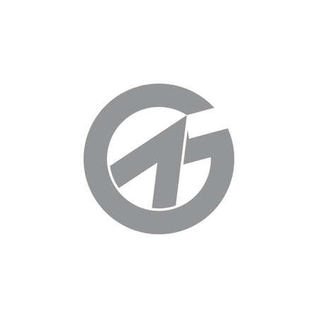 letter g arrow up simple geometric logo vector Illusztráció