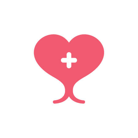 abstract healthy heart organ symbol vector
