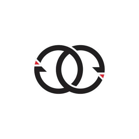 letters ge circle arrow monogram logo vector Ilustração