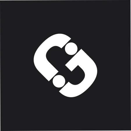 letter rj simple geometric dots design logo vector Иллюстрация