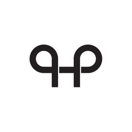 letter qp overlapping line simple logo vector Ilustrace