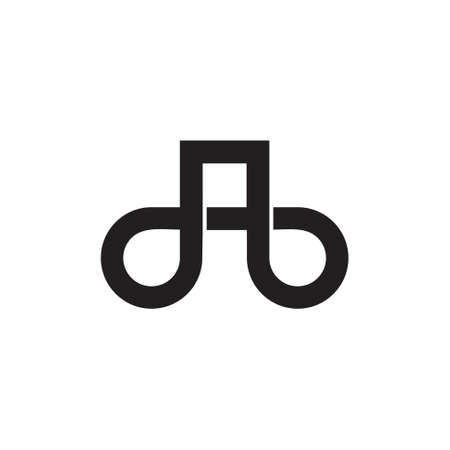 letter db overlapping line simple logo vector
