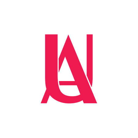 letters ua linked simple logo vector