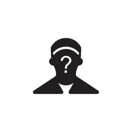 mysterious man symbol vector Ilustrace