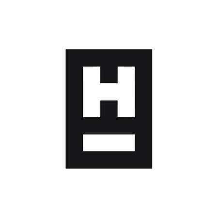 abstract letter h i simple geometric logo vector Ilustrace