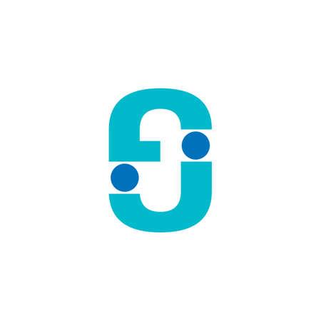 letter j simple geometric dots design logo vector Фото со стока - 124855123