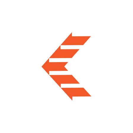 letter k stripes fast arrow abstract logo vector