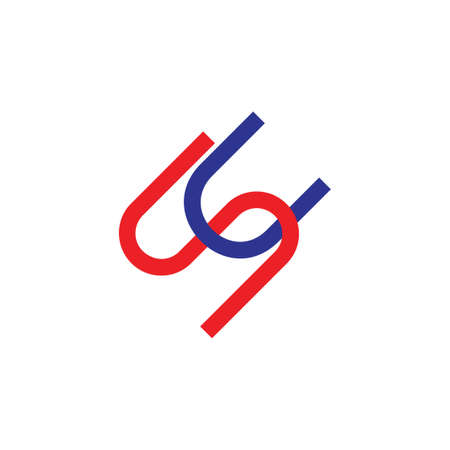 letters sc simple line geometric logo vector Ilustração