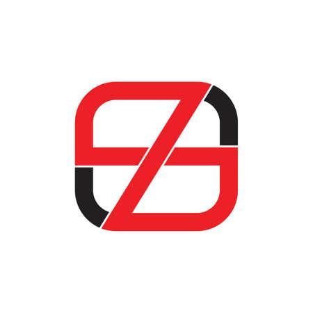 letter z infinity line square geometric logo vector