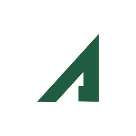 letter ar geometric arrow logo vector Çizim