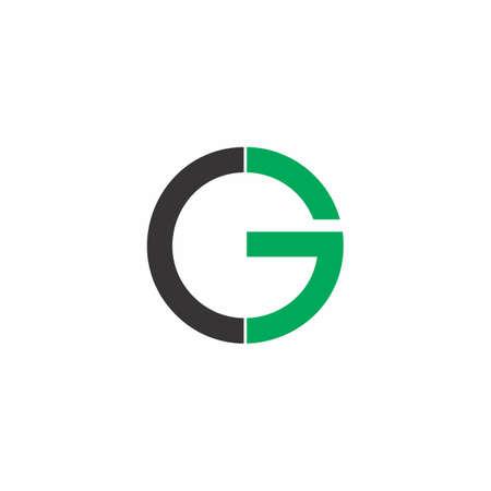 lettre cg cercle logo géométrique vecteur